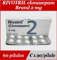 Rivotril Clonazepam 2mg